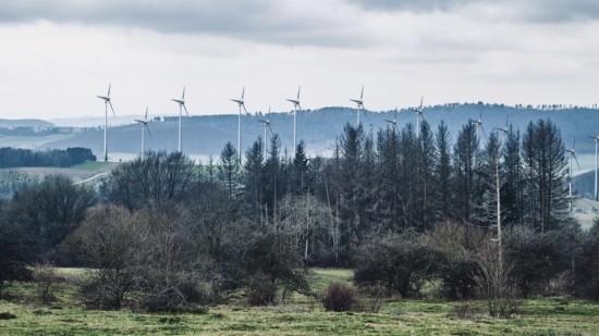 Montage zur Windenergienutzung