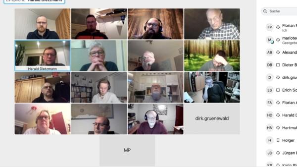 Die Ratsfraktion traf sich digital zur Sitzung
